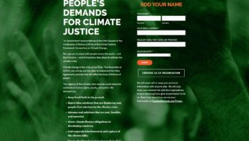 SIGN THE PEOPLE'S DEMANDS FOR CLIMATE JUSTICE